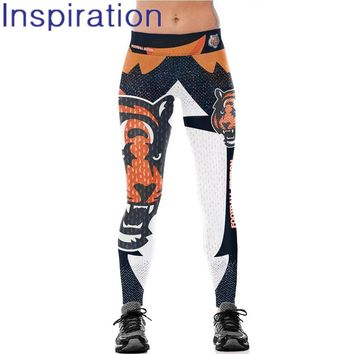 Women Leggings Printed Leggings Cincinnati Bengals Pants American Football Sport 3D Printed Elastic Trousers