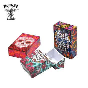 1 X Plastic Cigarette Case Size 95mm*60mm Cigarette Tobacco Storage Case Butterfly&Skull Pattern