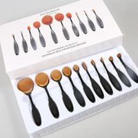 [ On Sale ] Professional 10pcs Makeup Brushes Set Cosmetic Tool Beauty _ 2473