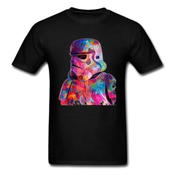 Star Wars Force Episode 1 2 3 4 5 High Quality Pure Cotton Tees  War Darth Vader T Shirt Men Infinite War Marvel The Avengers T-Shirts Colored Paint Drawing AT_72_6