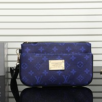 Louis Vuitton Women Fashion Casual Leather Zipper Wallet Purse