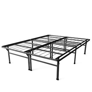 California King size 18-inch High Rise Metal Platform Bed Frame with Under Bed Storage Space