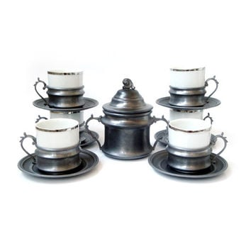 Vintage Coffee Serving Set , Espresso Serving Set , Made in Italy ,vintage retrò tableware