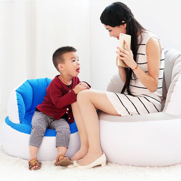 Hot Selling Home Furniture Inflatable Sofa Adult/Children Air Seat Chair Lazy Reading Relaxing Bean Bag for Living Room