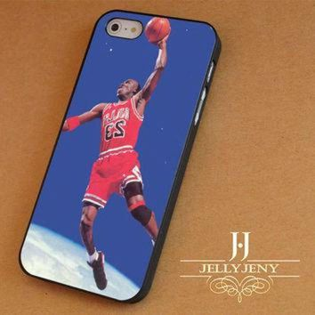 CREYUG7 Micheal Jordan Dunk In Space iPhone 4 5 5c 6 Plus Case | iPod 4 5 Case