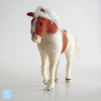 MADE TO ORDER - Needle Felted Sculptures - Horse Sculpture - Miniature Wool Felt Horse