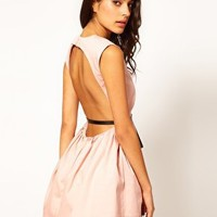 Oh My Love Scoop Back Tutu Dress With Belt at asos.com