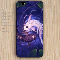 iPhone 5s 6 case Fish Yin Yang colorful phone phone case iphone case,ipod case,samsung galaxy case available plastic rubber case waterproof B412