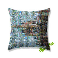 Cinderella Castle Square Pillow Cover