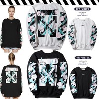 OFF WHITE Winter Round-neck Pullover Hoodies [11501026380]
