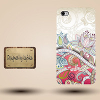 Cool Iphone case,  cute awesome Iphone 4 4s case, fashion Iphone 5 case, unique  hard Plastic case otterbox , indian floral pattern,p 813
