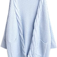 Light Blue Jacquard Cardigan