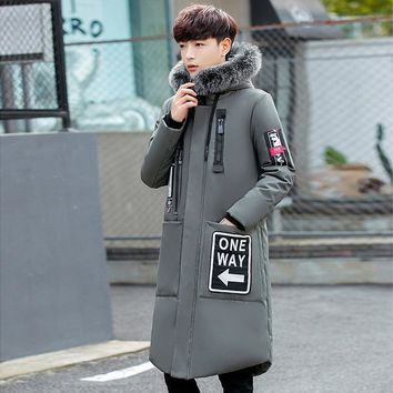 Trendy 2018 New Long Can Withstand - 30 Degrees Winter Jacket Men Big Real Fur Collar Hooded Duck Down Jacket Big Size 2XL 3XL 918-79 AT_94_13