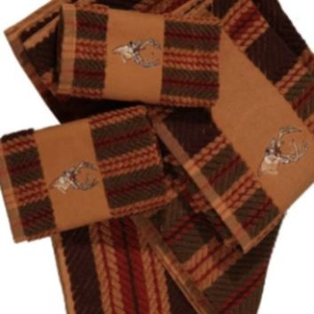 Cowgirl Kim Deer Striped 3pc. Bath Towel Set