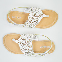 Simple Summer Sandal in White