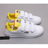 FILA COURT DELUXE VC Pokémon Co-branded Velcro Campus Wind Men's and Women's Shoes F-A0-HXYDXPF Yellow