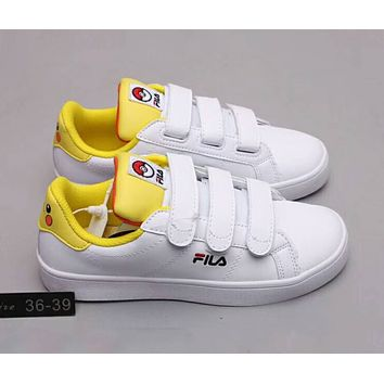 FILA COURT DELUXE VC Pokémon Co-branded Velcro Campus Wind Men s a4026c12e1
