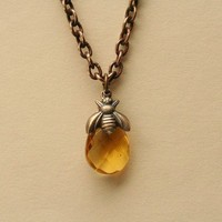 A Drop of Honey Necklace by madebymoe on Etsy