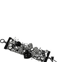 BetseyJohnson.com - JET SET BOW GEM TOGGLE BRACELET CRYSTAL