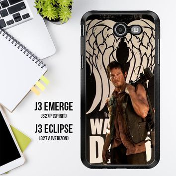 The Walking Dead Daryl Dixon Wings Z2791 Samsung Galaxy J3 Emerge, J3 Eclipse , Amp Prime 2, Express Prime 2 2017 SM J327 Case