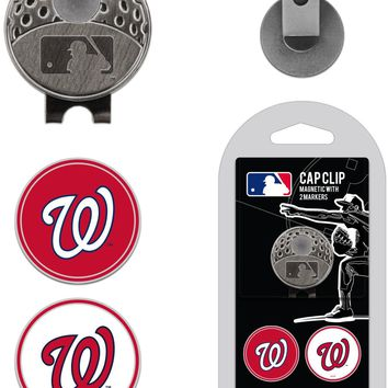 MLB Washington Nationals Hat Clip & 2 Magnetic Golf Ball Markers