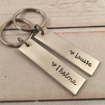 Thelma and Louise Keychain Set