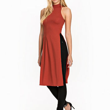 Rib Side Slit Top, NLY Trend