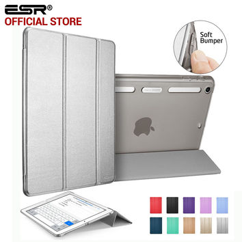ESR PU Leather Translucent Back Hybrid Soft Corner Slim Smart Cover color case for iPad mini 1 2 3