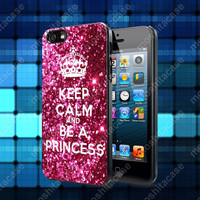 Keep calm and be a princess Case For iPhone 5, 5S, 5C, 4, 4S and Samsung Galaxy S3, S4