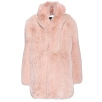 saint laurent - fox fur coat