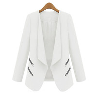 Trendy Women Ladies OL Blazer Casual Suit Business Outerwear Long SleveeCoat  Trendy HJ1SJ02