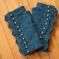 Mrs Croft's Cuffs by TravellingStitches on Etsy