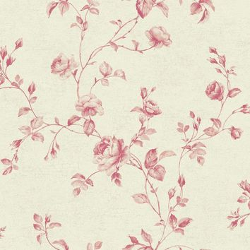 York Wallpaper KH7081 Rose Toile