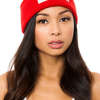 The Hello Bitchy Beanie in Red