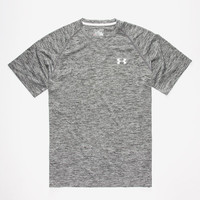 Under Armour Mens Tech Tee Heather Grey  In Sizes