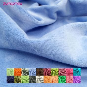 ZYFMPTEX New Arrival 20 Colors Choose Plush Fabric For Sewing Patchwork Toys Pet Blanket Material Stoffen Per Meter Voor Kleding