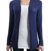 LE3NO Womens Plus Size  Long Sleeve Open Knit Cardigan with Stretch
