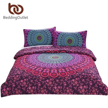 Bohemian Mandala Duvet Cover 3 Pcs Set With Pillowcase