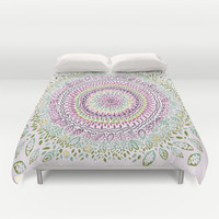 Intricate Spring Duvet Cover by Janet Broxon
