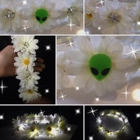 ALIEN LED flower crown for EDC Coachella raves and music festivals