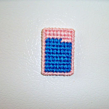 Geometric Fridge Magent, Fridge Magnet, Refrigerator Magnet, Pink and Blue Magnet, Unique Fridge Magnet