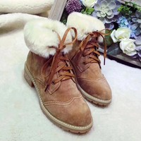 UGG Fashion Fur Wool Tube in Boots Martens Boots Shoes