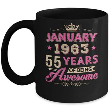 DCKIJ3 January 1963 55Th Birthday Gift Being Awesome Mug