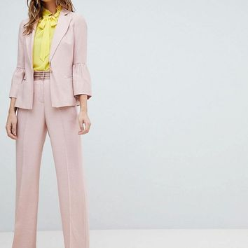 Sisley Fluted Sleeve Tailored Suit at asos.com