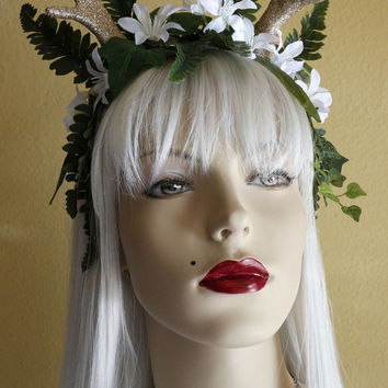 Golden Antlers Goddess Headdress
