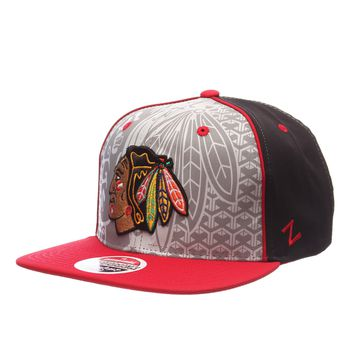 CHICAGO BLACKHAWKS REFLECTOR SNAPBACK HAT