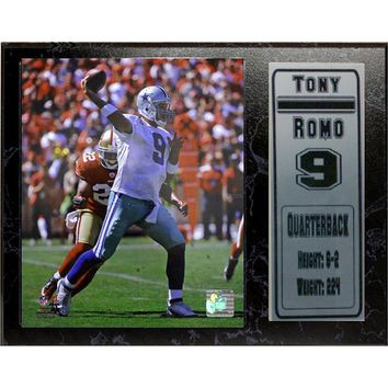 Dallas Cowboys Tony Romo Stat Plaque (Black)