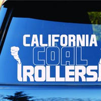 Dabbledown Decals California Coal Rollers Diesel State Car Truck Window Windshield Lettering Decal Sticker Decals Stickers JDM Drift Dub Vw Lowered Jdm Fresh Detailed Stance Fitment 4x4