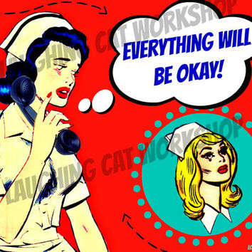 School Nurse doctor medical office wall art classroom poster inspirational wall decor teen girl room comic pop art phone printable download
