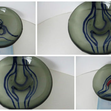 Little bones in Jewelry dishes- jewelry boxes tea or candleholders bowl fused Gray glass - Sceince Dutch design in gray